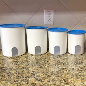New!!!! Tupperware one touch canister set